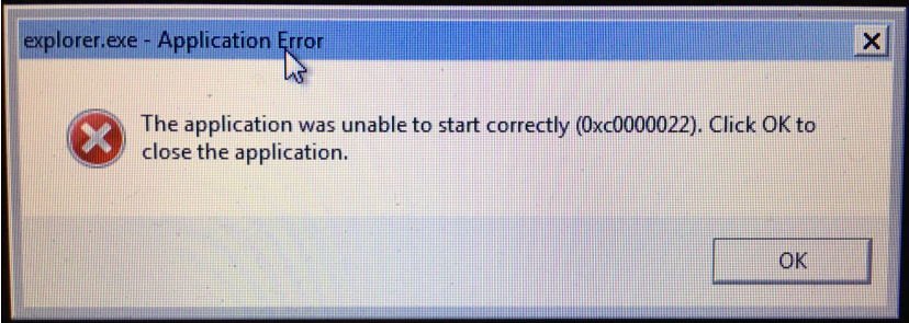 The Application Was Unable To Start Correctly 0xc0000022